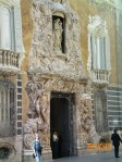 Beautiful alabaster frescoe on front of the Theater in Valencia