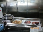 Part of the galley lunch